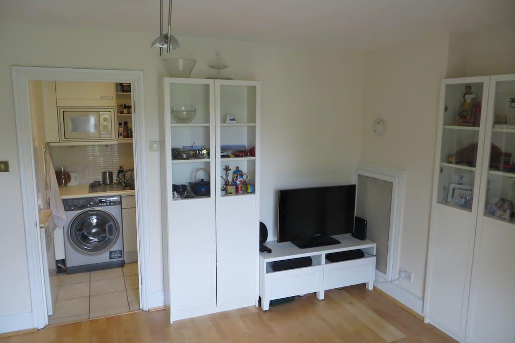 Living room and kitchen door