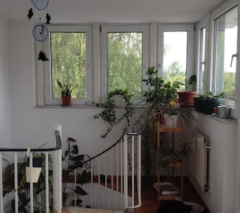 Quiet, sunny room with roof-terrace - Berlin - Appartement