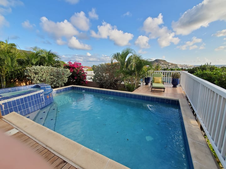 Cole Bay Home with Private Pool and Stunning View