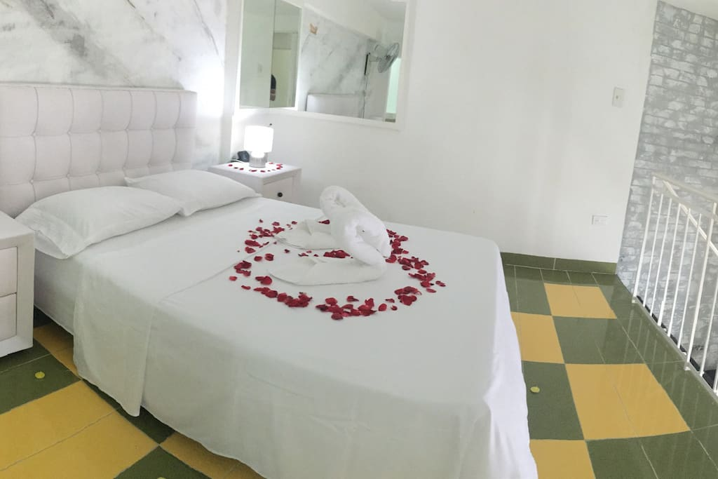 Comfortable room with soft sheets and double bed