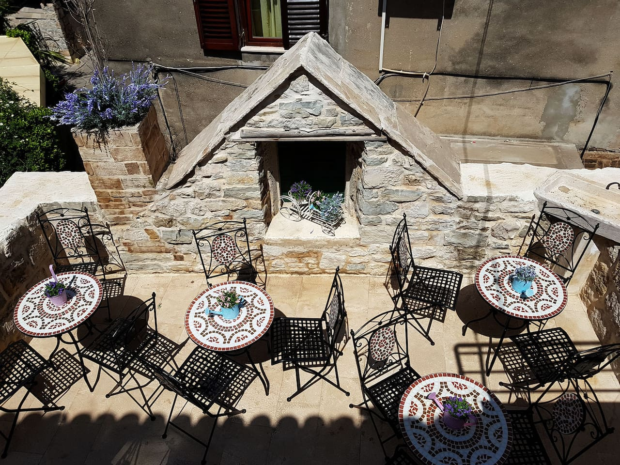 The most beautiful terrace in city of the Split.You can enjoy in your breakfast or in glass of vine before night life.