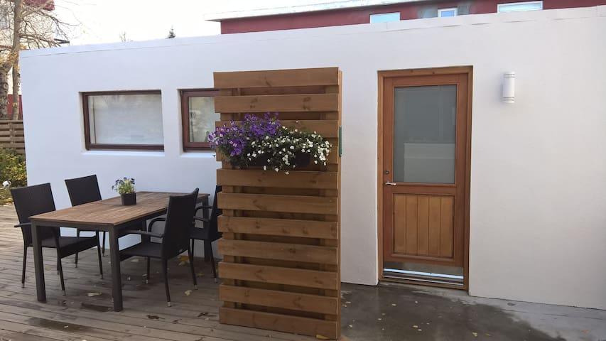 A cozy studio apartment in central Akureyri