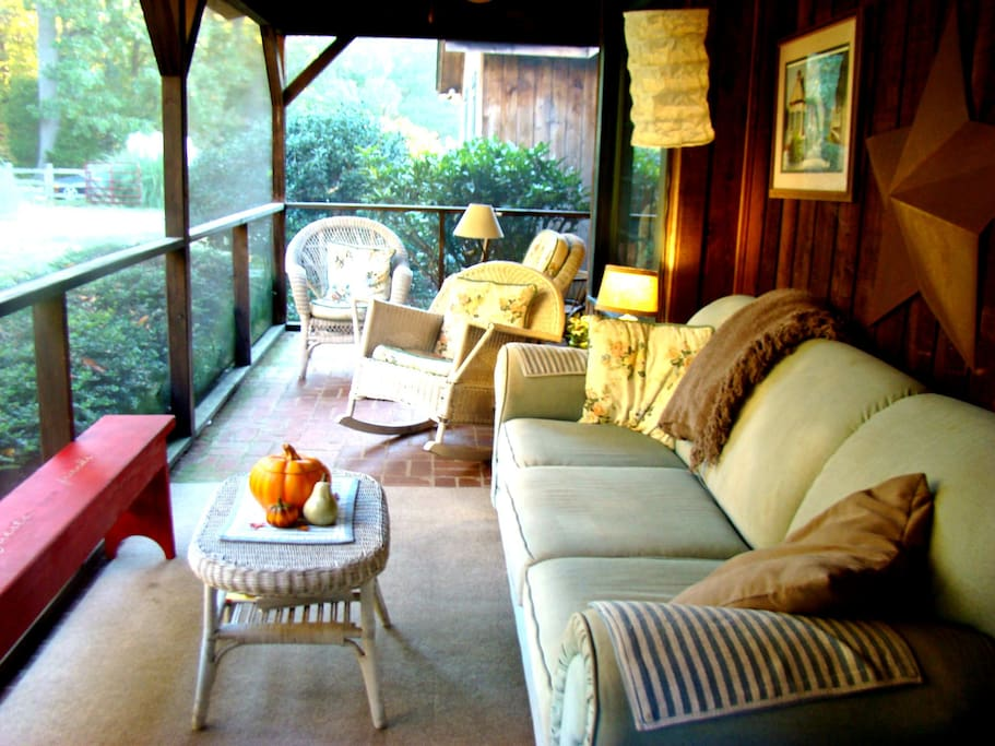 Lovely screen porch