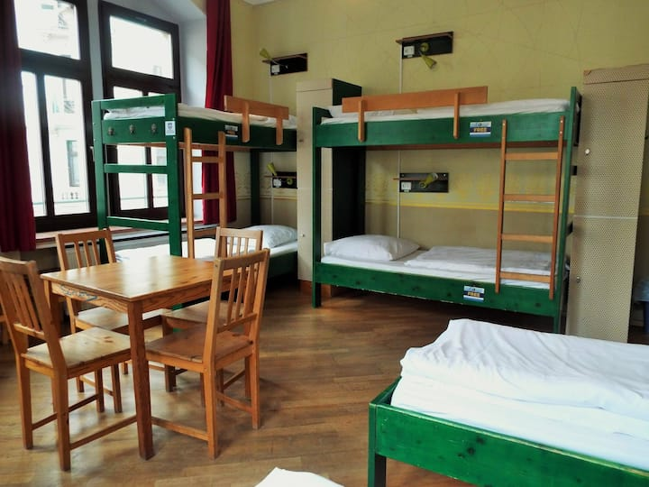 bed in mixed 7-bed dormitory at Hostel Mondpalast