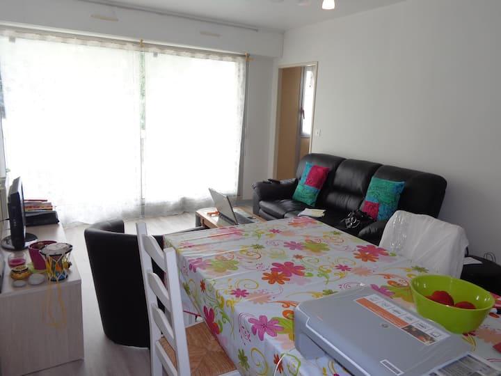 Appartement de 45m2 à Quimper : Chambre à louer