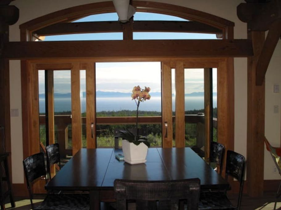 Never lose sight of the Pacific Ocean from the south facing windows of the house.