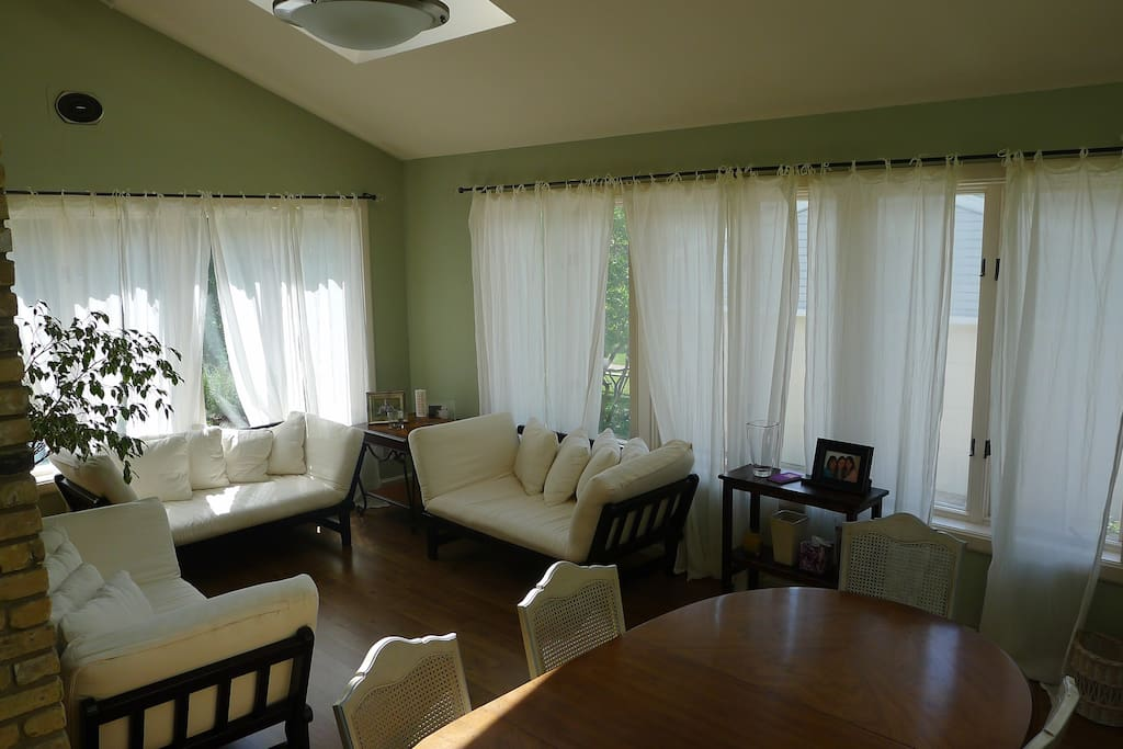Sunroom - perfect room for reading, lounging or spending time with friends