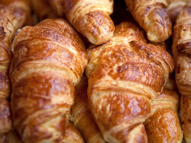 "Eat a Croissant at Julien bakery !!!!Nothing is more Parisian than a croissant ""au beurre""."