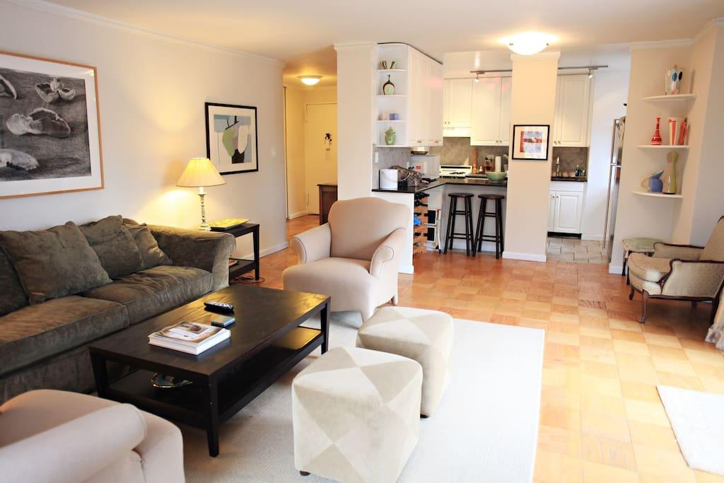 Living Room - looking toward kitchen