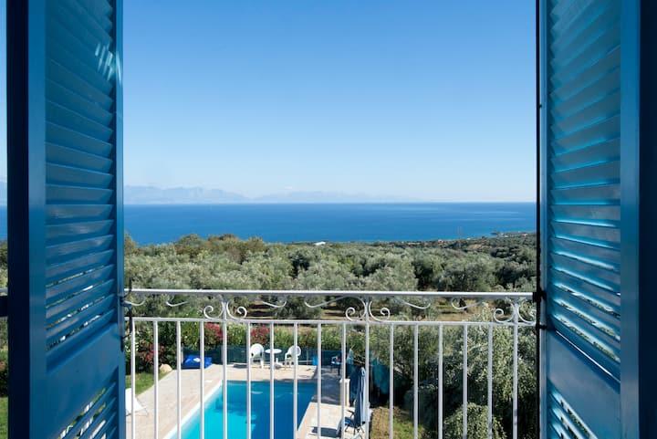 Duplex avec piscine & supervue mer