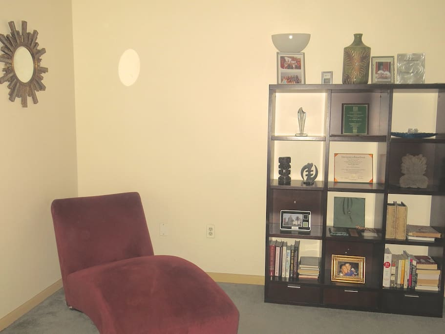 Relax in the chaise lounge while enjoying a book and refreshing beverage