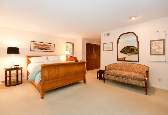 Spacious Master Bedroom with Spa Bath and More