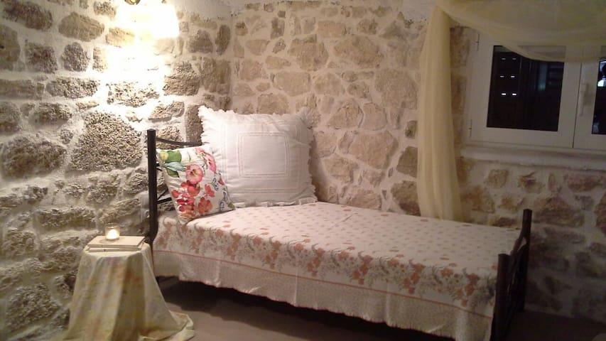 #Two bedroom cozy stone house