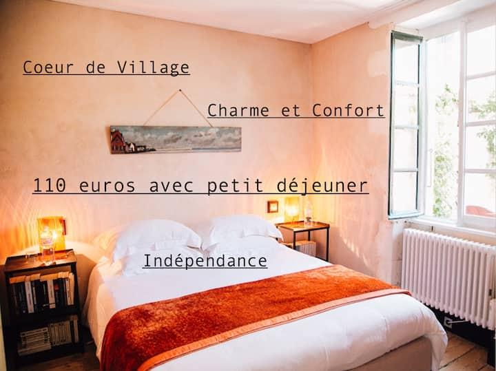 Coeur Village,Charme,Indépendance,Petit déjeuner