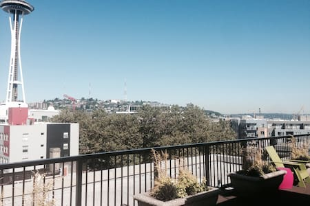 LOCATION, LOCATION - CLEAN and cozy Studio APT in the heart of D.T. Seattle; walk/bike anywhere! Iconic Space Needle 2 blks away; Full kitchen; in-unit W/D; Nice balcony; Awesome Rooftop with GORGEOUS views; THE BEST Value for your money period.