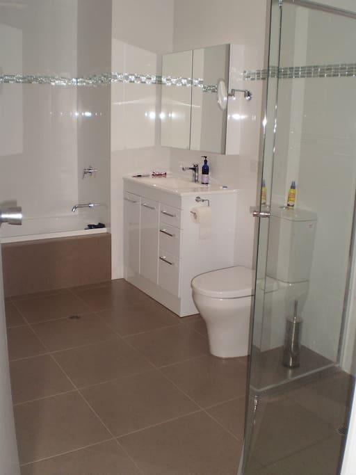 Shared modern new bathroom