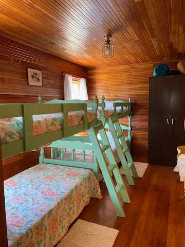 Two sets of bunk beds...the little ones, even the big ones love it.