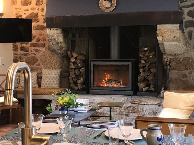 Stüv stove and living room