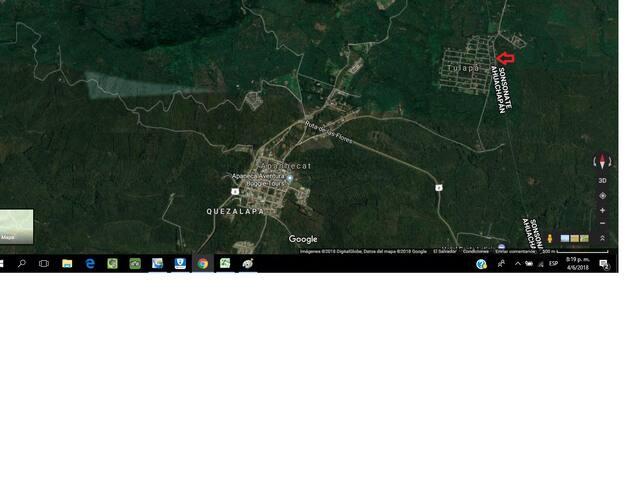 En el mapa se señala con la flecha la ubicación de la cabaña.