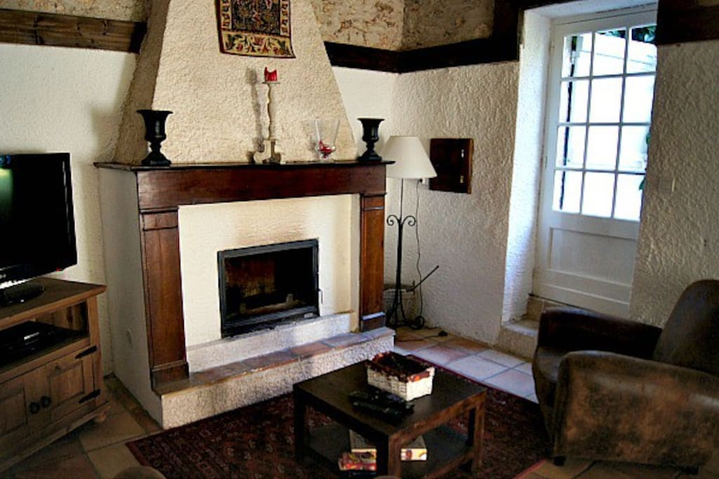 Fireplace for extra warmth in cooler months
