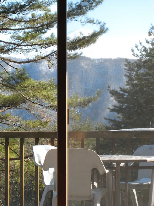 You can find Mt. Fuji from the living room.