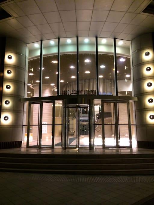 Front doors lobby