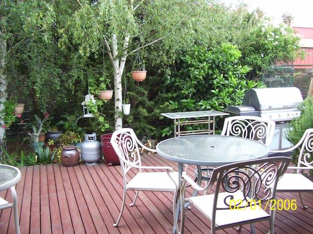 Our garden patio & gas BBQ