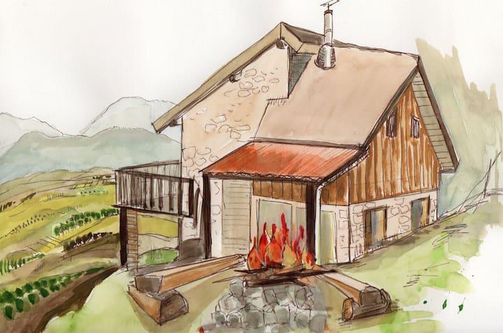 Eco refuge de montagne en Rhône-Alpes