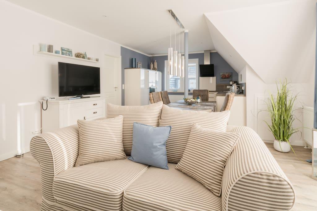 spo beach house luxus wohnung direkt am strand service apartments zur miete in st peter. Black Bedroom Furniture Sets. Home Design Ideas