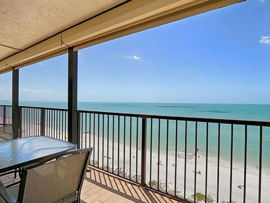Unobstructed view of the Gulf north and south--access balcony from LR & BR