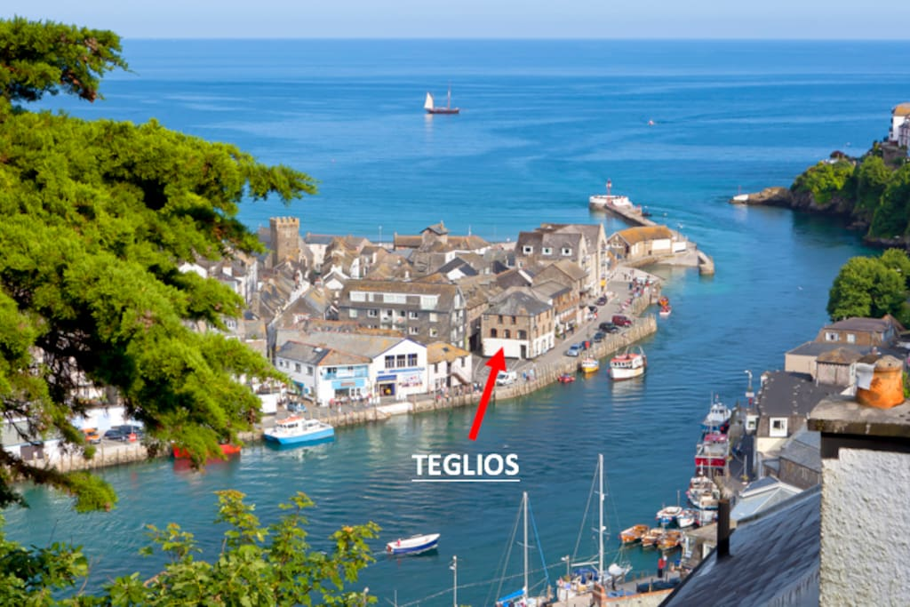 Location of The Teglios Net Loft (2nd Floor - with stairlifts from top to bottom on request)