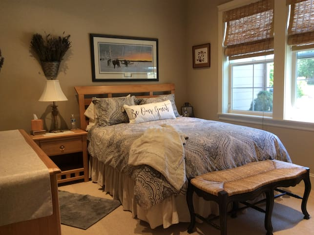 Cozy room in quiet country setting among horses