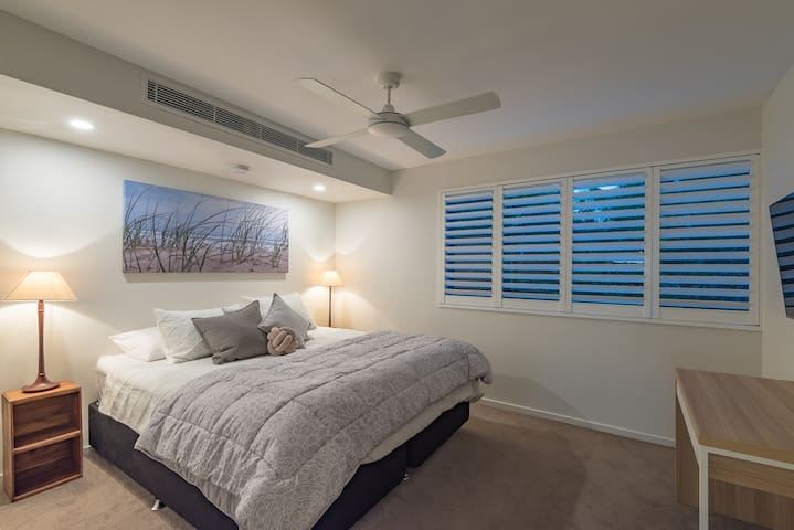 master bedroom with aircon and ensuite