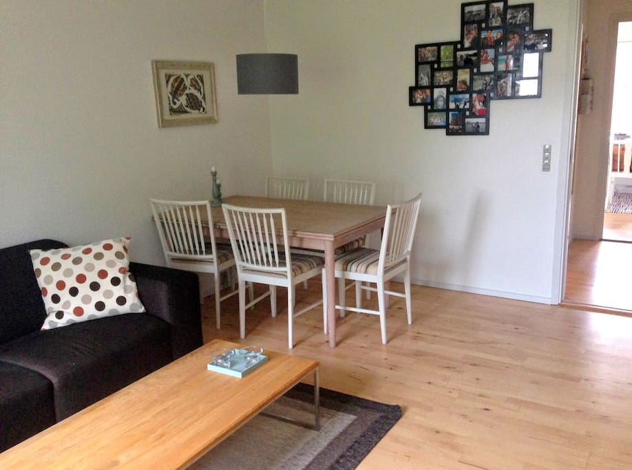 Living room - the dinner table can be extended and we have more chairs available