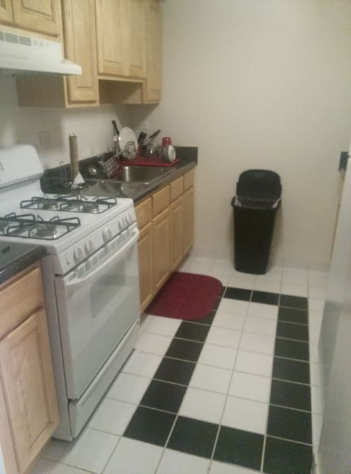 spacious separate kitchen