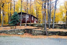 Located in a maple grove, fall is perfect season to visit or a getaway.