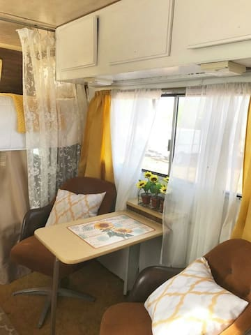 Comfortable siting and dinning area.