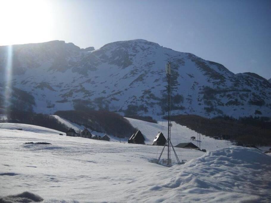 View from house on ski lift Savin kuk.