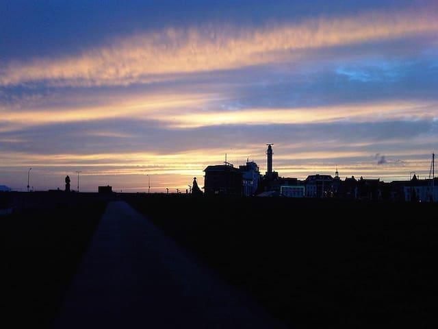 Vlissingen bij zonsondergang