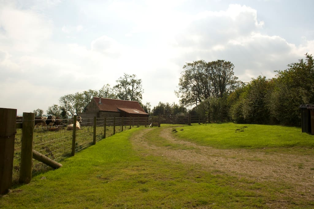 The barn is secluded and surrounded by fields. There is ample space for private parking.