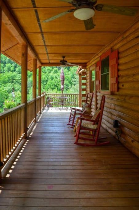 Wrap around porch for watching wild life