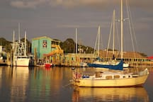 Tour Southport for great waterfront dining and shopping