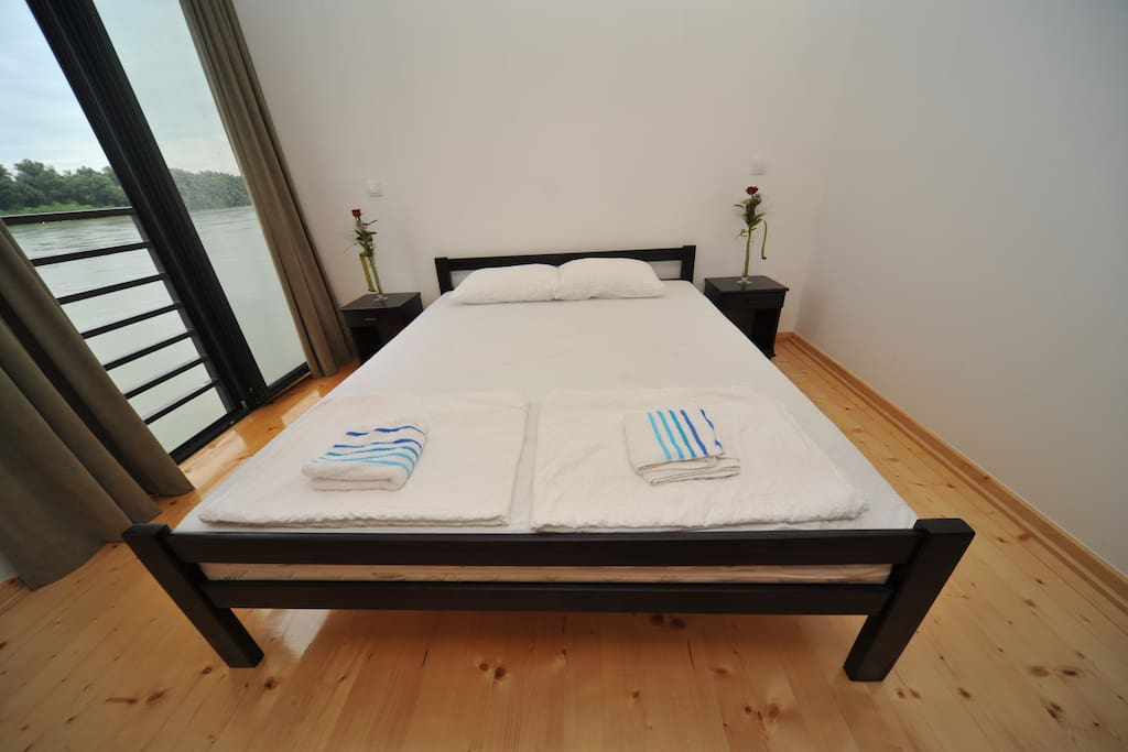 Double room with view on the  river Danube