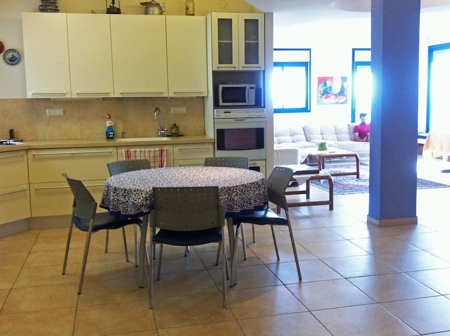 big, open space kitchen. Fully equipped for cooking and baking.