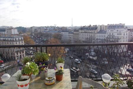 Loft terrasse, vue tour Eiffel - Neuilly-sur-Seine - Loft