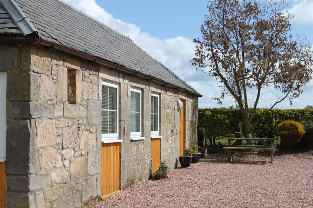 Exterior of The WeeBothy - a converted gamekeepers kennels.