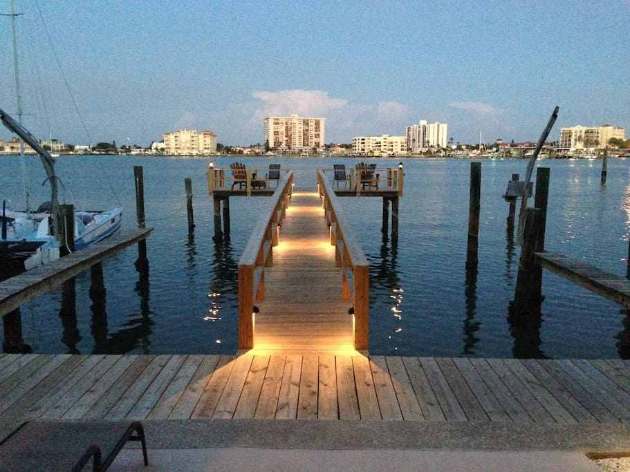 Large dock on the water great for fishing, lounging and sun soaking