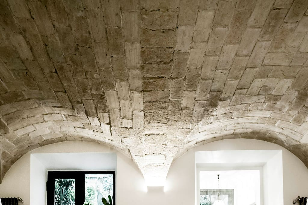 Ancient vaulted ceiling from 19° century
