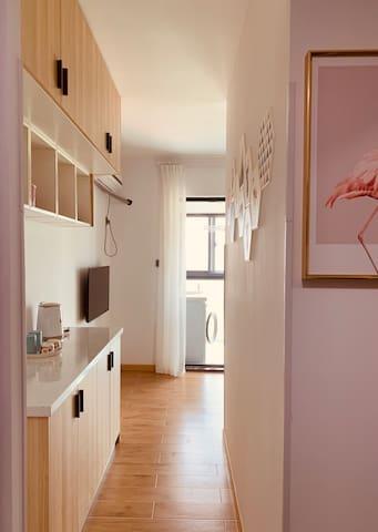 太湖边湖景单身公寓,仅靠雷迪森度假酒店七七北欧温馨小居
