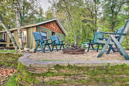 Waterfront Pequot Lakes Cabin w/Dock+Fire Pit